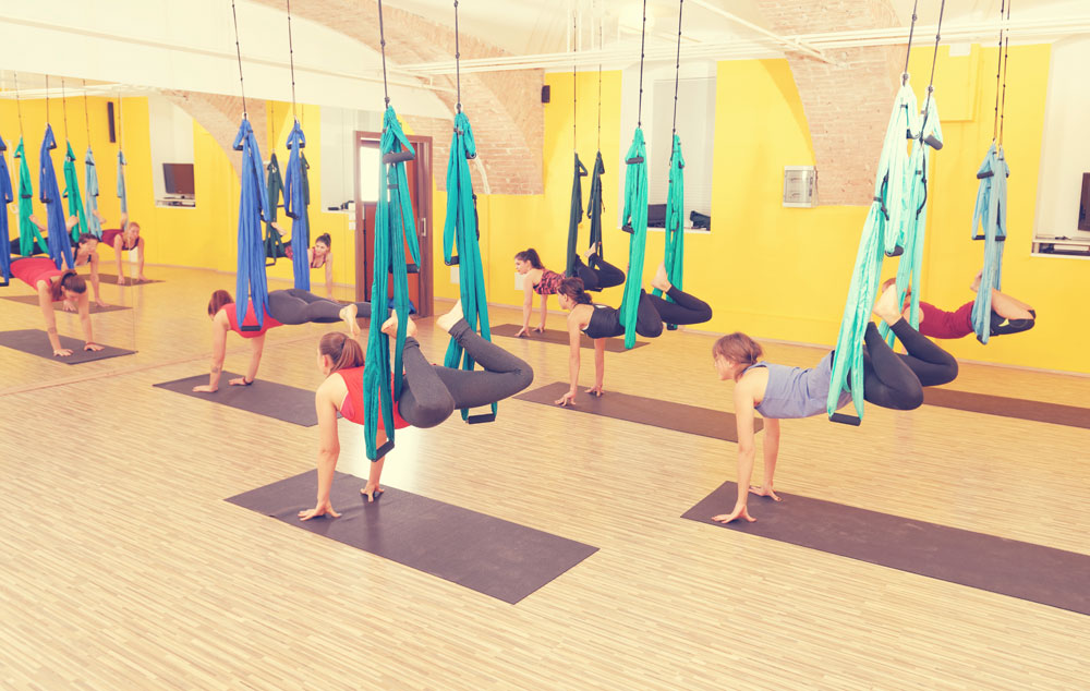 Aerial yoga to challenge your core